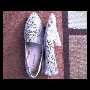 JF loafers , snake print